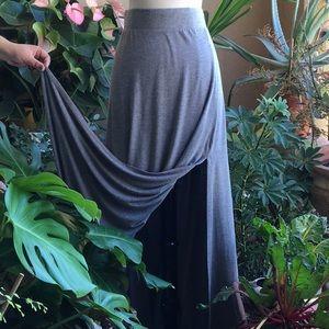 💋💕 Grey maxi skirt with slit💕💋